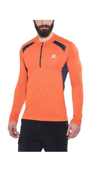 Salomon Fast Wing Koszulka do biegania z długim rękawem Mężczyźni pomarańczowy